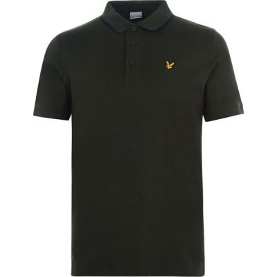 ライル アンド スコット Lyle and Scott メンズ ポロシャツ トップス Lyle Tipped Polo Shirt Deep Spruce