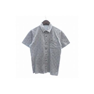 【中古】フレッドペリー FRED PERRY ポロシャツ 半袖 ドット S グレー /CT メンズ 【ベクトル 古着】