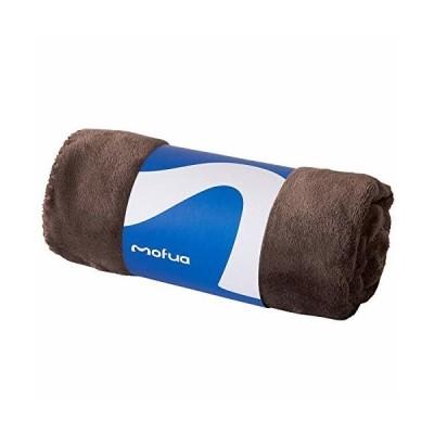 mofua (モフア) ひざ掛け 毛布 70×100cm ブラウン あったか 冬用 ブランケット モフモフ プレミアムマイクロファ