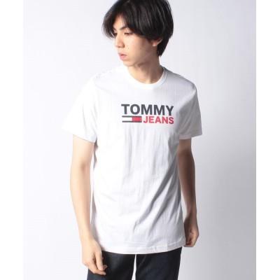 【トミーヒルフィガー】 ロゴコットンTシャツ メンズ ホワイト L TOMMY HILFIGER