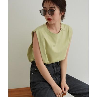 ViS / 【vis-`a-vis】シルケットライクBOXYノースリーブTシャツ WOMEN トップス > Tシャツ/カットソー