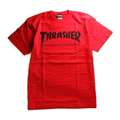 Thrasher Magazine Tシャツ 半袖 スラッシャー マガジン Mag Logo T-Shirt Red2 スケボー SKATE SK8 スケートボード HARD CORE PUNK ハードコア