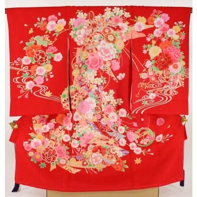 女の子お宮参り着物sagu01 赤