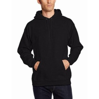 Hanes  ファッション トップス Hanes NEW Black Mens Size Big 2X Pullover Pocket Solid Hooded Sweater