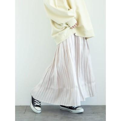 ・Petit Fleur サテンプリーツスカート