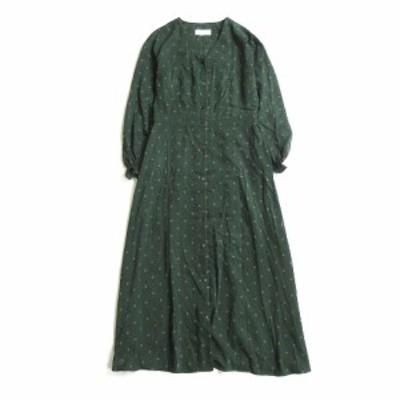 【中古】グリーンレーベルリラクシング ユナイテッドアローズ green label relaxing 総柄 シャツ ワンピース