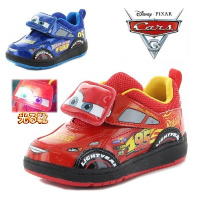 光る靴 ディズニー キャラクター カーズ cars  ムーンスター キッズ スニーカー 男の子 通園 ベロクロ マジック 子供靴 tmdnc1262