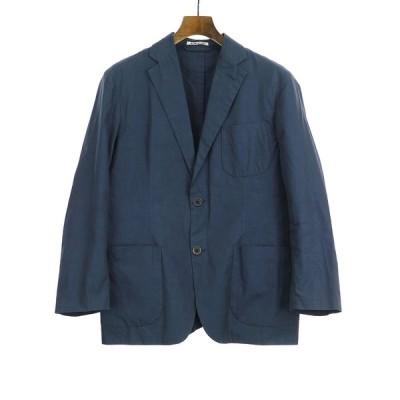 AURALEE オーラリー 16SS HIGH COUNT FINX CHAMBRAY JACKET ジャケット ネイビー 3 メンズ