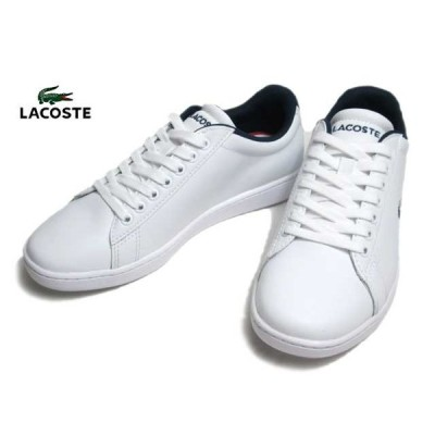 ラコステ LACOSTE SFA0048 CARNABY EVO TRI 1 ホワイトネイビーレッド スニーカー レディース 靴