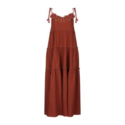 シーバイクロエ SEE BY CHLOÉ 7分丈ワンピース・ドレス レンガ 40 コットン 100% 7分丈ワンピース・ドレス