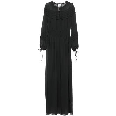 ドンダップ DONDUP ロングワンピース&ドレス ブラック 38 ポリエステル 100% ロングワンピース&ドレス