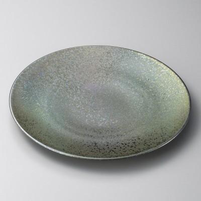 陶雅 黒彩22cm丸皿