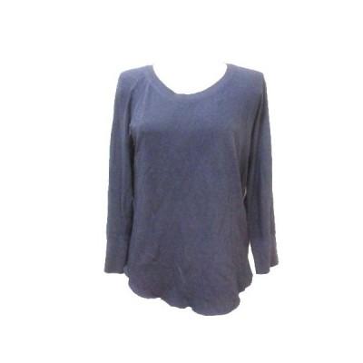 【中古】ジェームスパース JAMES PERSE Tシャツ カットソー 長袖 無地 紫 パープル 1 S コットン X レディース 【ベクトル 古着】