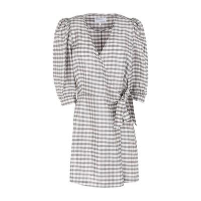 DESIGNERS, REMIX ミニワンピース&ドレス ライトグレー 32 シルク 100% ミニワンピース&ドレス