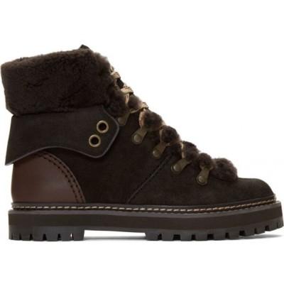 クロエ See by Chloe レディース ブーツ シューズ・靴 Brown Eileen Boots Graphite