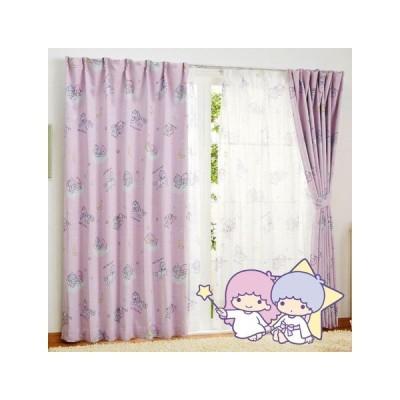 キキ&ララ キキララ 2級 遮光 遮熱 カーテン 2枚セット サンリオ Sanrio キャラクター SB-519-S  巾100x丈135 2枚組