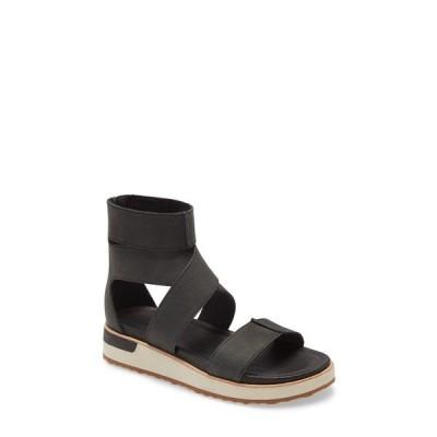 メレル サンダル シューズ レディース Roam Cross Sandal Black Leather