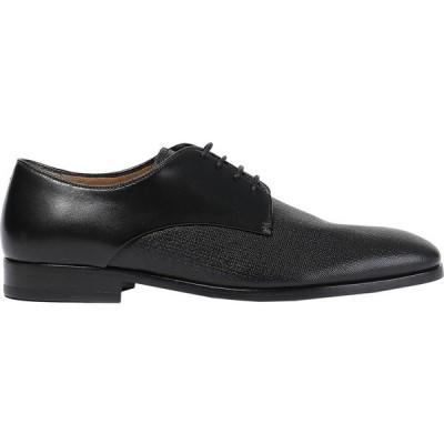 アルマーニ GIORGIO ARMANI メンズ シューズ・靴 laced shoes Black