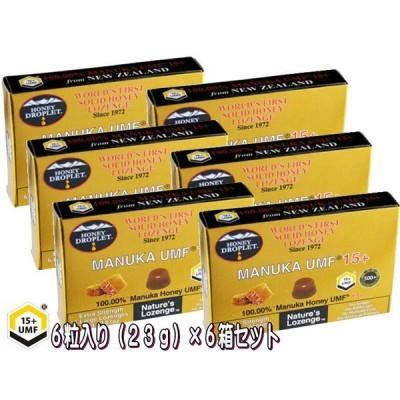 【6箱】ハニージャパン ハニードロップレット100% UMF マヌカハニー 15+ キャンディ のど飴 6粒入り オーガニック 無添加 正規品 食品 蜂蜜 はちみつ