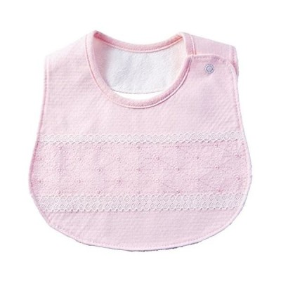 赤ちゃんの城 スタイ フラックスリーフ 日本製 (ピンク)