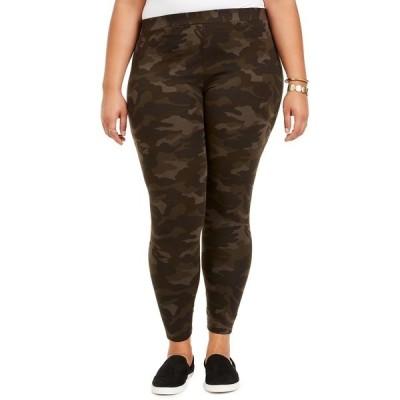 スタイルアンドコー カジュアルパンツ ボトムス レディース Plus Size Camo Daze Printed Leggings, Created for Macy's Camo Green