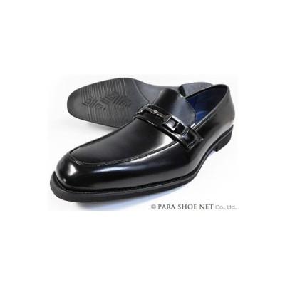 FRANCO GIOVANNI 本革  ビットローファースリッポン ビジネスシューズ(大きいサイズ 革靴 紳士靴)黒 ワイズ3E(EEE)28cm、29cm、30cm