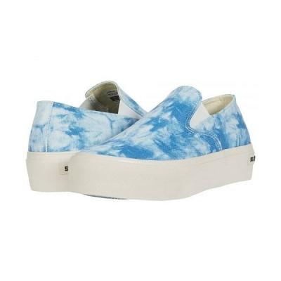 SeaVees シービーズ レディース 女性用 シューズ 靴 スニーカー 運動靴 Baja Slip-On Platform Tie-Dye - Blue