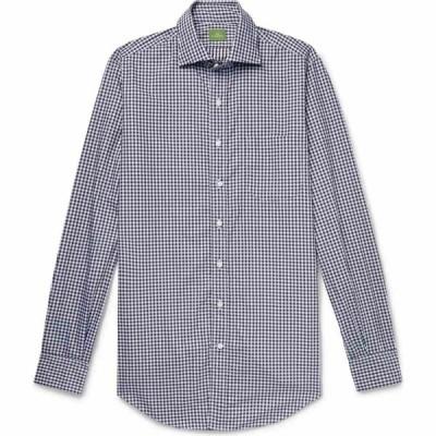 シドマッシュボーン SID MASHBURN メンズ シャツ トップス Checked Shirt Sky blue
