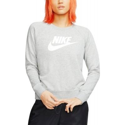 ナイキ Nike レディース スウェット・トレーナー トップス Sportswear Essential Fleece Crewneck Sweatshirt Dk Grey Heather