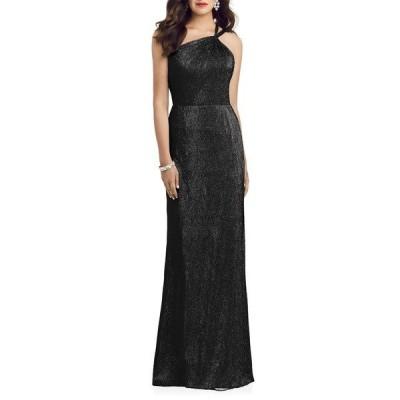ドレッシーコレクション ワンピース トップス レディース Soho Metallic One-Shoulder Gown Black