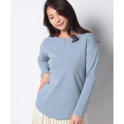 (Rewde/ルゥデ)ボートネックロングTシャツ(1R15-03171)/レディース ブルー