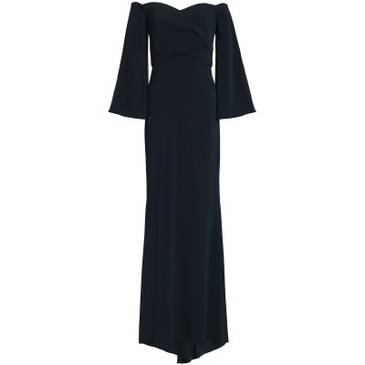 BADGLEY MISCHKA ロングワンピース&ドレス ダークブルー 0 ポリエステル 98% / ポリウレタン 2% ロングワンピース&ドレス