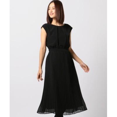 【ミューズ リファインド クローズ】 プリーツドレス レディース クロ M MEW'S REFINED CLOTHES