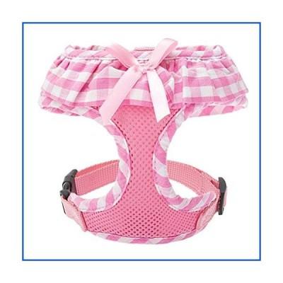【新品】EXPAWLORER Checkered Frills Fashion Puppy Harness for Pets Dog & Cat, Pink Small【並行輸入品】