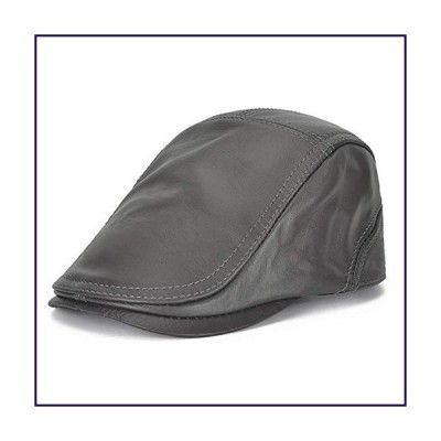 XYSQWZ Flat Caps for Men, Leather Newsboy Peaked Cabbie Ivy Gatsby Beret Hat Driving Cap,Granddad Hat Baker-Boy Classic Cap Adjustable (55-6