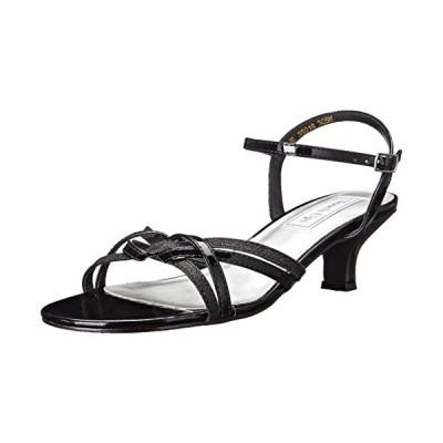 タッチ Ups レディース Melanie Ankle ストラップ Sandal,ブラック,9.5 M US(海外取寄せ品)