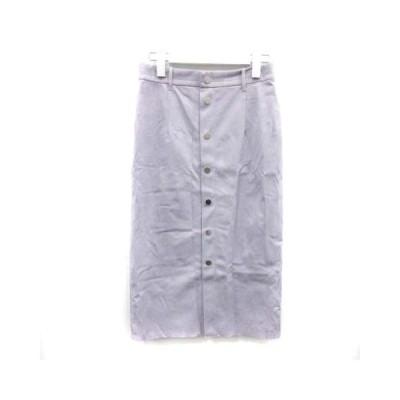 【中古】マルティニーク martinique フェイクスウェードボタンタイトスカート ロング 2 M 紫 パープル A0396FS140 /PJ レディース 【ベクトル 古着】
