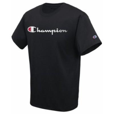 チャンピオン メンズ Tシャツ トップス Men's Script Logo T-Shirt Black