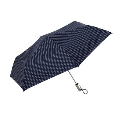 晴雨兼用傘  ウォーターフロント親骨55cm 安全式ダブルジャンプシルバーコーティング ストライプ柄 折りたたみ傘 全3色 WPG-3F55-UJ-2T 中学生未満使用禁止