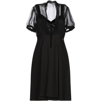 ガリアーノ GALLIANO ミニワンピース&ドレス ブラック 42 ポリエステル 88% / ポリウレタン 12% ミニワンピース&ドレス