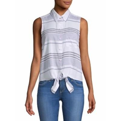 ビーチランチラウンジ レディース トップス シャツ Striped Sleeveless Button-Down Shirt