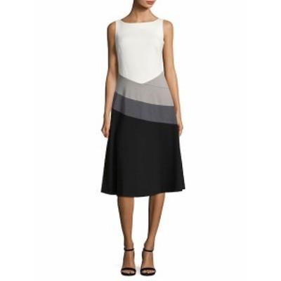 カルバンクライン レディース ワンピース Boatneck Knee-Length Dress