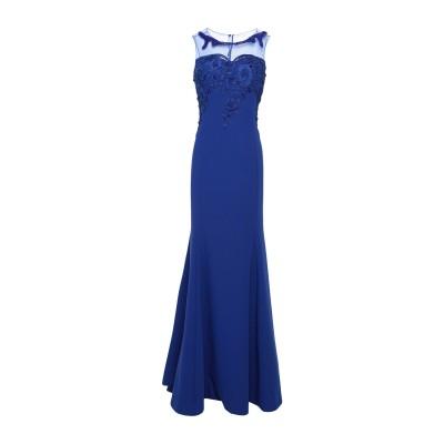 GAI MATTIOLO ロングワンピース&ドレス ブルー 46 ポリエステル 95% / ポリウレタン® 5% ロングワンピース&ドレス