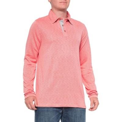 ビジター Visitor メンズ ポロシャツ トップス Washed Red Polo Shirt - Long Sleeve Washed Red