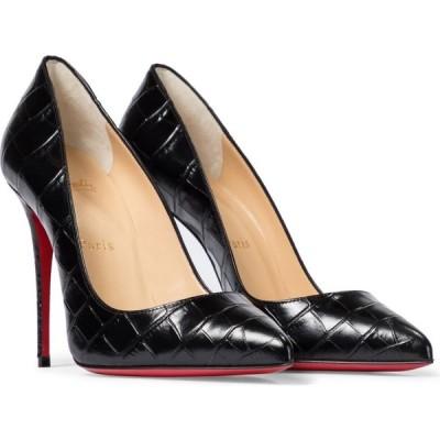 クリスチャン ルブタン Christian Louboutin レディース パンプス シューズ・靴 pigalle follies 100 leather pumps Black