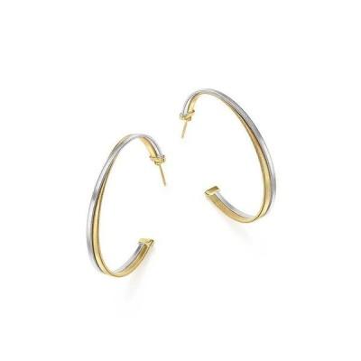 マルコ ビチェゴ レディース ピアス・イヤリング アクセサリー 18K White & Yellow Gold Masai Crossover Hoop Earrings