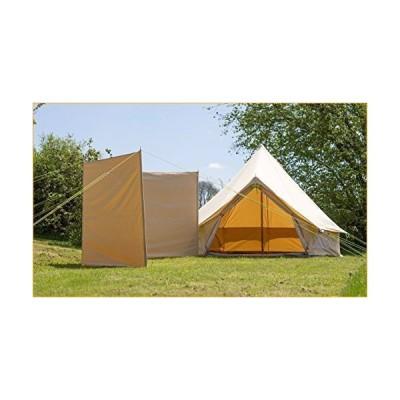 Windbreak 100% Cotton Canvas 4 Steel Poles with Guys  Bell Tent Windbreak  Camping Windbreak 並行輸入品