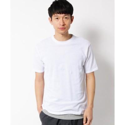 tシャツ Tシャツ 【タンクトップセット】綿ニットTシャツ