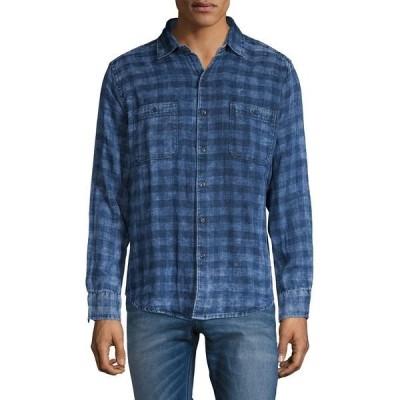 トッミーバハマ メンズ シャツ トップス India Plaid Shirt Island Navy
