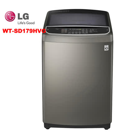LG樂金17公斤第三代DD直立式變頻洗衣機WT-SD179HVG(不鏽鋼銀)
